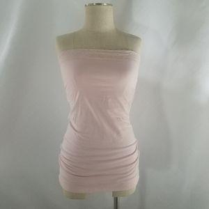 Vanity Lace Blush Pink Tube Top